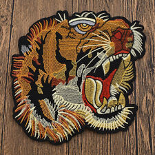 Big Tiger Patches  Embroidered Badge Applique Fabric Sew on Iron on Craft DIY