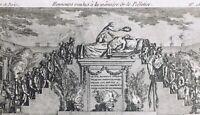 Lepeltier de Saint Fargeau en 1793 Révolution Française  Rare Gravure