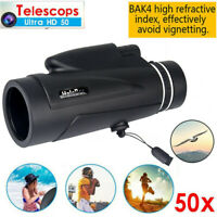 New 50x60 Monocular Outdoor Optics Zoom Lens Camping Hiking BAK4 Telescope Scope