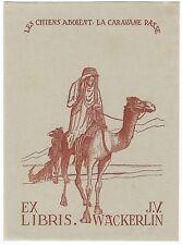 EMILE PUETTMANN: Exlibris für J. V. Wäckerlin; Karawane; 1944
