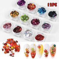 Autumn Design Maple Leaf Nail Sequin Spangles for Xmas Nail Art Flake Applique