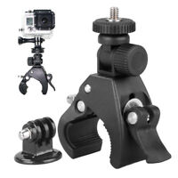 Bike Holder Handlebar Mount + Tripod Adapter For Go pro Xiao yi 4k DLSR Camera U