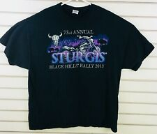 Mens 2XL Sturgis Black Hills Motor Classic Motorcycle Rally 73rd Annual 2013