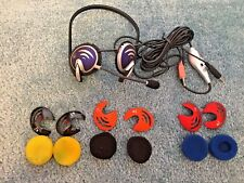 Electronic Logitech Head Set 2 Ear Pieces 1 Microphone 6 Pads 4 Covers