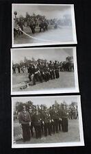 3 alte Fotos Feuerwehr M. S. Bremerhaven 50/60iger Jahre