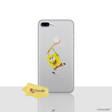 Disney Silicone Clear GEL Case Cover Screen Protector for Apple iPhone 6 / 6s Spongebob Squarepants