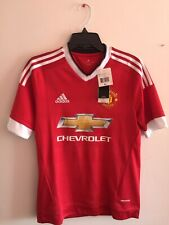 Adidas Manchester United Home 2015-16 jersey Red White Size YXL Boy's Only