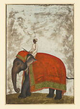 PAINTING KHAN (ATTR.) MUGHAL EMPEROR'S CEREMONIAL ELEPHANT POSTER PRINT LF3080