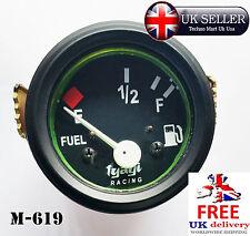 """Medidor De Nivel De Combustible Cav Camioneta Bote Calibrador 52mm 2"""" Cuadrante negro Reloj Vintage M-619"""