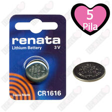 5 Renata CR1616 3 Volt 16.0 x 1,6 mm BATTERIA LITIO
