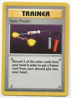 Item Finder - Shadowless Base Set 74/102 - Rare - Pokemon Card - (NM) Near Mint