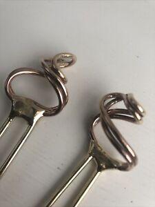 Artistic Hair Sticks, 2, Handmade Solid Brass