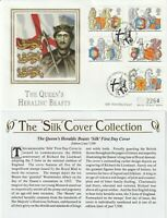 24 FEBRUARY 1998 THE QUEENS BEASTS MERCURY SILK FIRST DAY COVER WESTMINSTER SHS
