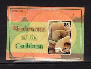 Antigua #2944  (2007 Mushrooms sheet)  VFMNH  CV $6.50