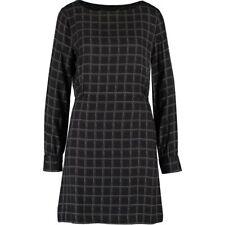 Genuine LOVE MOSCHINO Dark Grey Sheath Brand Printed Dress - sz UK 8 / IT 40