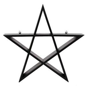 BLACK PENTAGRAM SHELF SHELVING DISPLAY GOTHIC WALL PENTACLE HANGING WICCA PAGAN