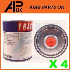 4 LITRI Tractol Super Red Paint Massey Ferguson 35 65 135 165 240 290 Trattore