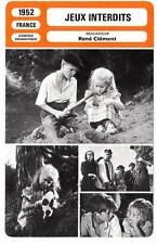 FICHE CINEMA : JEUX INTERDITS - Poujouly,Fossey,Clément 1952 Forbidden Games