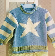 STELLA di mare per Bambini Baby Estate SWEATER 6mths - 4 anni cotone knitting pattern