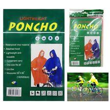 Adulto Impermeable Poncho Capucha Unisex Resistente Al Agua lluvia Tapa Ciclismo