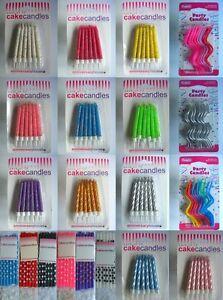 CAKE CANDLES - Full Range of Colours & Styles (Birthday/Christmas/Christening)