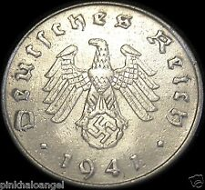 Germany - German Third Reich - German 1941F Reichspfennig Coin - Real WW 2 Coin
