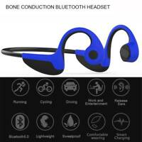 Bone Conduction Bluetooth Headset Handsfree Headphone Earphone for Samsung LG G6