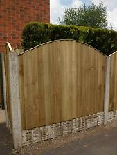 4ft Closeboard/Featheredge Fence Panels 30cm high curve Ideal for extra privacy