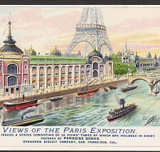 San Francisco Paradise Sodas Crackers Standard Biscuit Eiffel Tower Expo Ad Card