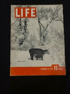 VINTAGE LIFE MAGAZINE FEBRUARY 8TH, 1937, COLOR LUCKY STRIKE AD ON THE BACK