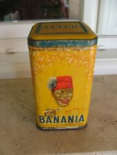 "boite en fer ancienne Y'a bon Banania "" chicorée "" H 17,5 cm"