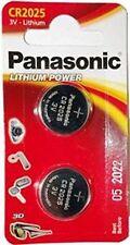 2Pcs Panasonic CR2025 3V Lithium Multipurpose Coin Cell Battery Blister TwinPack