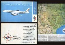 "1965 UNITED AIR ATLAS AIRLINES FLIGHT 21"" X 36"" MAP"