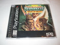 Romance of the Three Kingdoms IV : Wall of Fire (PlayStation PS1) Complete Exc!