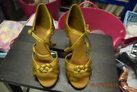Gold satin Dancelife 1773 ballroom / latin dance shoes - size UK 3