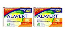 2 PACK Alavert Allergy 10Mg Tablets Citrus 60 Ct (4168068/305732621654)