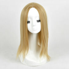Blonde Mixed color Highlights Medium Length middle Parting Long Wig WIGS