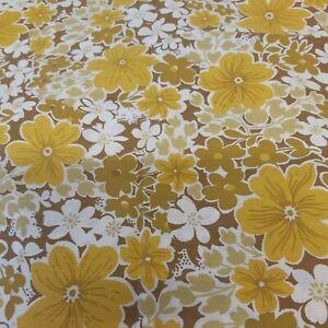 Pair Vintage 60s 70s Floral  Pillowcases  unused