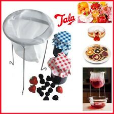 Home Jam Making Kit Straining Bag & Chromed Stand Easy Strainer Kitchen Preserve