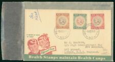 MayfairStamps New Zealand 1955 Combo 3 Health Stamps Wellington Cover wwr5469