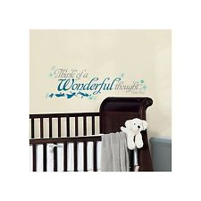 DISNEY PETER PAN WONDERFUL THOUGHT Wall Decals Princess Tinkerbell Room Stickers