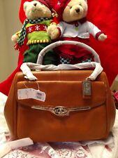 NWT Coach Madison Madeline E/W Satchel Shoulder Bag Orange Spice Leather 25166