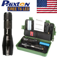 5000LM US Tactical Police Flashlight CREE T6 LED Zoomable 18650 Torch Bike Lamp