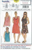 burda 7661 Misses' Dress and Shirt 8 to 20  Sewing Pattern
