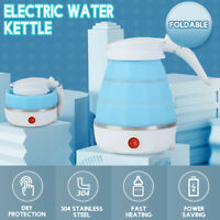 New 600ML Electric Foldable Kettle Collapsible Silicone Travel Water Boiler Jug!