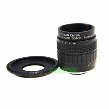 FUJIAN 35mm F1.7 C Mount CCTV F1.7 Lens to Sony Nex-5T N-3N 3F N6 N7 N-5R A6000
