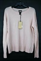 Halogen Womens Wool Cashmere Button Sleeve Sweater Pullover Boat Neck S $129