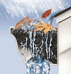 """GutterStuff®Original 5"""" x 48"""" K-Style Gutter Foam Filter, Gutter Guard System"""