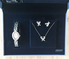 Bell & Rose Ladies Quartz Watch Set with simulated diamond Earrings/Necklace set