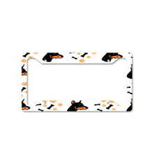 Doberman Pinscher Dog Breed Auto Car License Plate Frame Tag Holder 4 Hole